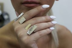 Silver & gold rings by Flora...