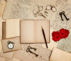 Check out Red Roses and Love Letters by LiliGraphie on Creative Market
