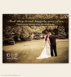 modern wedding thank you card, guest thank you, thank you sign ...
