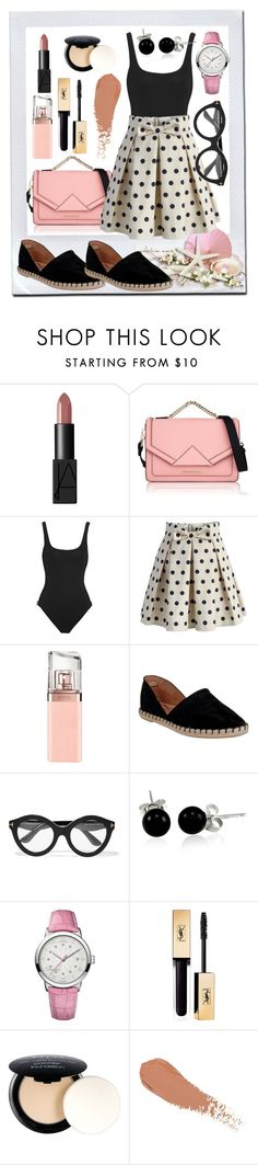 """""""Untitled #217"""" by ljabii ❤ liked on Polyvore featuring NARS Cosmetics, Karl Lagerfeld, Orlebar Brown, Chicwish, HUGO, Miz Mooz, Tom Ford, Bling Jewelry, 88 RUE DU RHONE and NYX"""