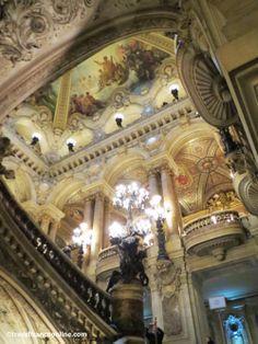 Opera Garnier #Paris painted ceilings #detail www.travelfranceonline.com