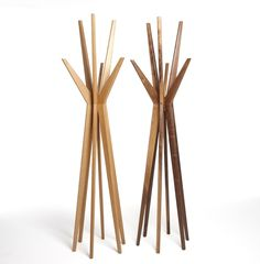 Jackson Coat and Hat Stand, walnut and oak versions, dare studio