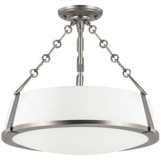 Capital Lighting C4585AN588 East Village Semi Flush Mount Ceiling Light - Antique Nickel