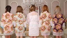 lace bridesmaid robe floral robe with lace bridal robe by ForBride