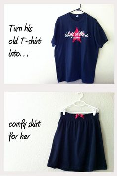 old t shirt into skirt
