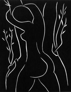 Henri Matisse ┃ Elle y pose sa joue, Elle l'embrasse, 1944