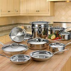 Cuisinart 17-Piece Stainless Steel Cooking Set | Bloomingdale's