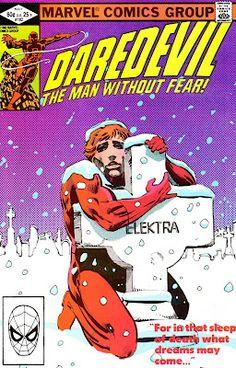 Daredevil v1 #182 marvel comic book cover art by Frank Miller