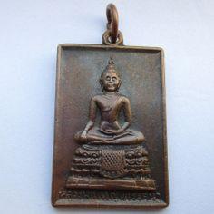 Buddhist amulet pendant Thai buddha statue yantra holy coin - Lp YaiTrirutana