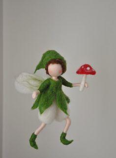Nadel gefilzt Elf Ornament Wolle Puppe: Gnome mit von MagicWool