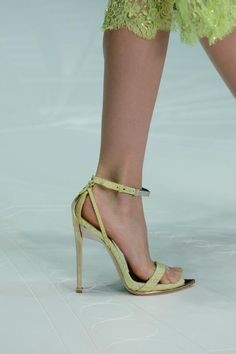 #RobertoCavalli sandals in lime green from the SS 2013 fashion show!
