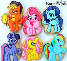 My Little Pony cookies by Butterwinks