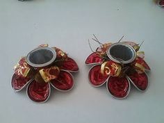 Decoration and Ideas: Ideas for Recycling Coffee Capsules and make candle holder for Christmas