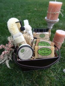 Take the guesswork out of Mother's Day with this Ultimate Natural Skin-loving Gift - incuding goat milk soaps and lotion, luxury milk bath, natural deodorant, sugar scrub, lip butter and accessories!   Bend Soap Company