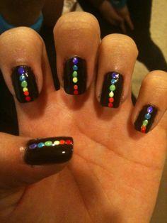 rainbow dot art! put that dotting tool to good use:)