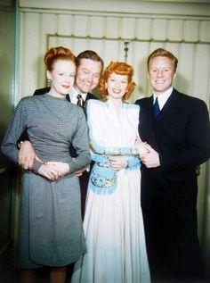 Edna Skelton, Red Skelton, Lucille Ball, and Van Johnson