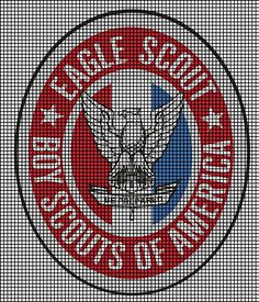 Eagle Scout Badge Crochet Pattern
