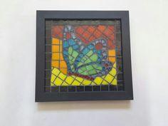 Quadro em mosaico borboleta