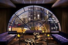 Talk about a view!  The Thompson Hotel in Chicago designed by Tara Bernerd.