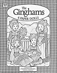 The Ginghams Coloring Page Paper Doll Cover