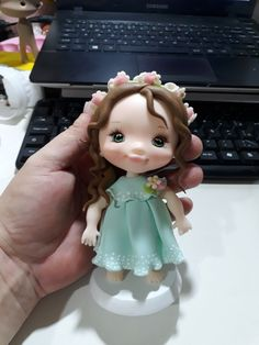 Fondant, Clay Figures, Pasta Flexible, Polymer Clay Crafts, Art Dolls, Magnolia, Anna, Decoration, Cake