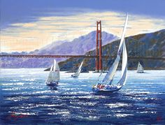 Kerry Hallam - Golden Gate Sunset (the Pacific Coast Suite)