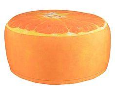 Outdoor poef Orange, ? 58 cm