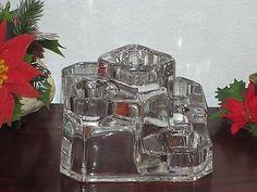 5-TIER Partylite Crystal GLASS Castle Tealight VOTIVE Candle Holder P7170