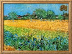 View of Arles with Irises Prints by Vincent van Gogh at AllPosters.com