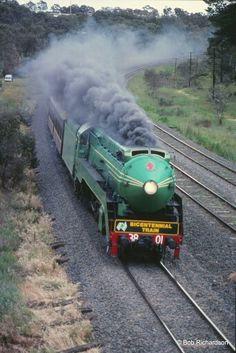 3801 Steam Train 1988 Bicentennial Train ~ v Train Car, Train Tracks, Old Steam Train, Rail Transport, Train Times, Old Trains, Train Pictures, Steamers, Steam Engine