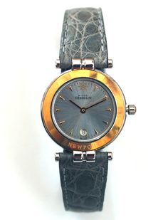 Timeless elagance, French design and Swiss precision. Michel Herbelin 18krt gold and steel ladies' watch €1600,- for €599,- www.megawatchoutlet.com