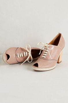 Very cool - too bad these are so expensive. Oscine Lace-Ups #anthropologie