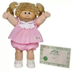 Cabbage patch doll! 80's craze.Stood in line at midnight to get this doll! Merry Christmas Ashley : )