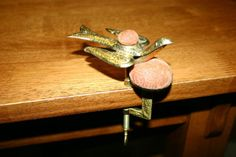 BIN 1853 Brass Sewing Bird Clamp Pin Cushion BIN $179