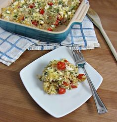 Cheesy Greek-Style Baked Quinoa - Cooking with Cakes