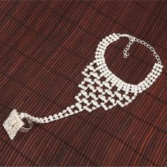 Rhinestone Bracelet & Ring by Hellashare on Etsy