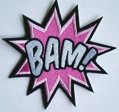 Large Embroidered BAM Iron On Patch by ElsieMichelleDesigns, $10.50