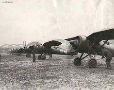 Samoloty PZL P.11c ze 113 Eskady Myśliwskiej na Okęciu. Fot: via Odkrywca.pl Poland, Fighter Jets, Monster Trucks, Aircraft, History, Vehicles, Wings, Aviation, Plane