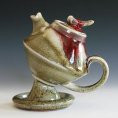 First Rose Teapot Handmade Porcelain Teapot by ocpottery on Etsy, Handmade Ceramics by Kazem Arshi
