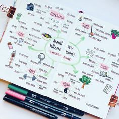 Easy Bullet Journal Ideas To Well Organize & Accelerate Your Ambitious Goals Bullet Journal Inspo, Bullet Journal Student, Bullet Journal 2019, Bullet Journal Printables, Bullet Journal Ideas Pages, Bullet Journal Layout, Journal Pages, Bullet Journals, Journal Prompts