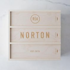 Personalized Wedding Wine Box: This Anniversary Wine Box has three separate compartments to fill with different bottles to share on milestone anniversaries.  #food52