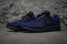 Just offered in Ultramarine, the Nike Air Max Zero is rendered in a bold finish of binary blue/obsidian for one of its many other iterations this Fall 2016. Comprised of breathable mesh and hyperfuse