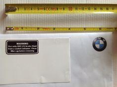 For all R /6 (R50, R60, R75)  Brake fluid dot3  Dimensions: 50mm x 22mm.