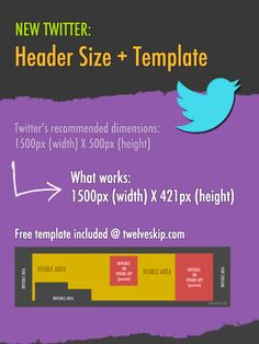 New 2014 #Twitter Header Size + Free Template #socialmedia
