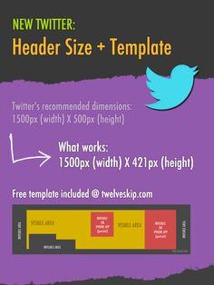New 2014 #Twitter Header Size + Free Template #socialmedia