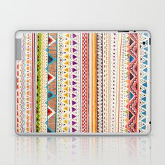 LOVE THIS Laptop Skin. Another great find from Society6!  Pattern Laptop & iPad Skin by Sandra Dieckmann - $25.00