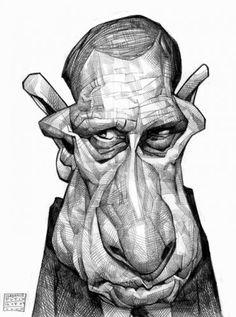 [ Vladimir Putin ]- artist: Russ Cook - website: http://www.russcook.co.uk/index.htm
