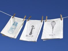 Add some 1950s retro-style to the kitchen, bathroom, sack tea towels absorb whatever you dish out. $10