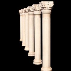 Marble columns your home decor in cream color.