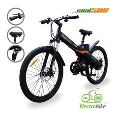 """Motor 500W Weight 60 lbs Wheels 26"""" Battery Li-ion Charge Time (110 V) 3-5 hrs Range 20-30 mi Max Speed (Motor) 20 mph Max Speed (Pedal) 25 mph"""